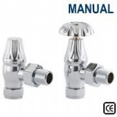 Crocus Chrome Plated Manual Radiator Valve